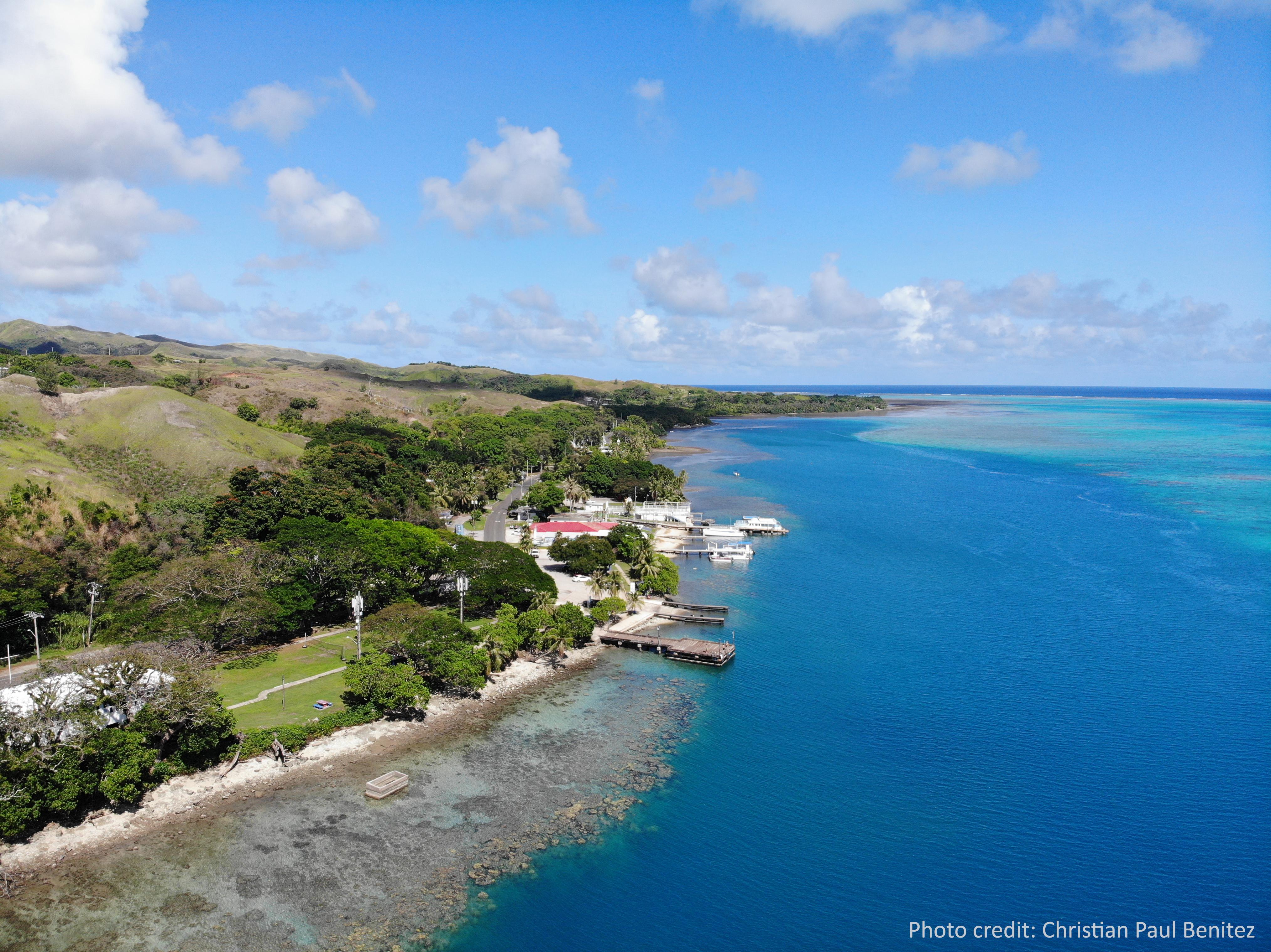 Merizo Pier and lagoon in Merizo Village, Guam