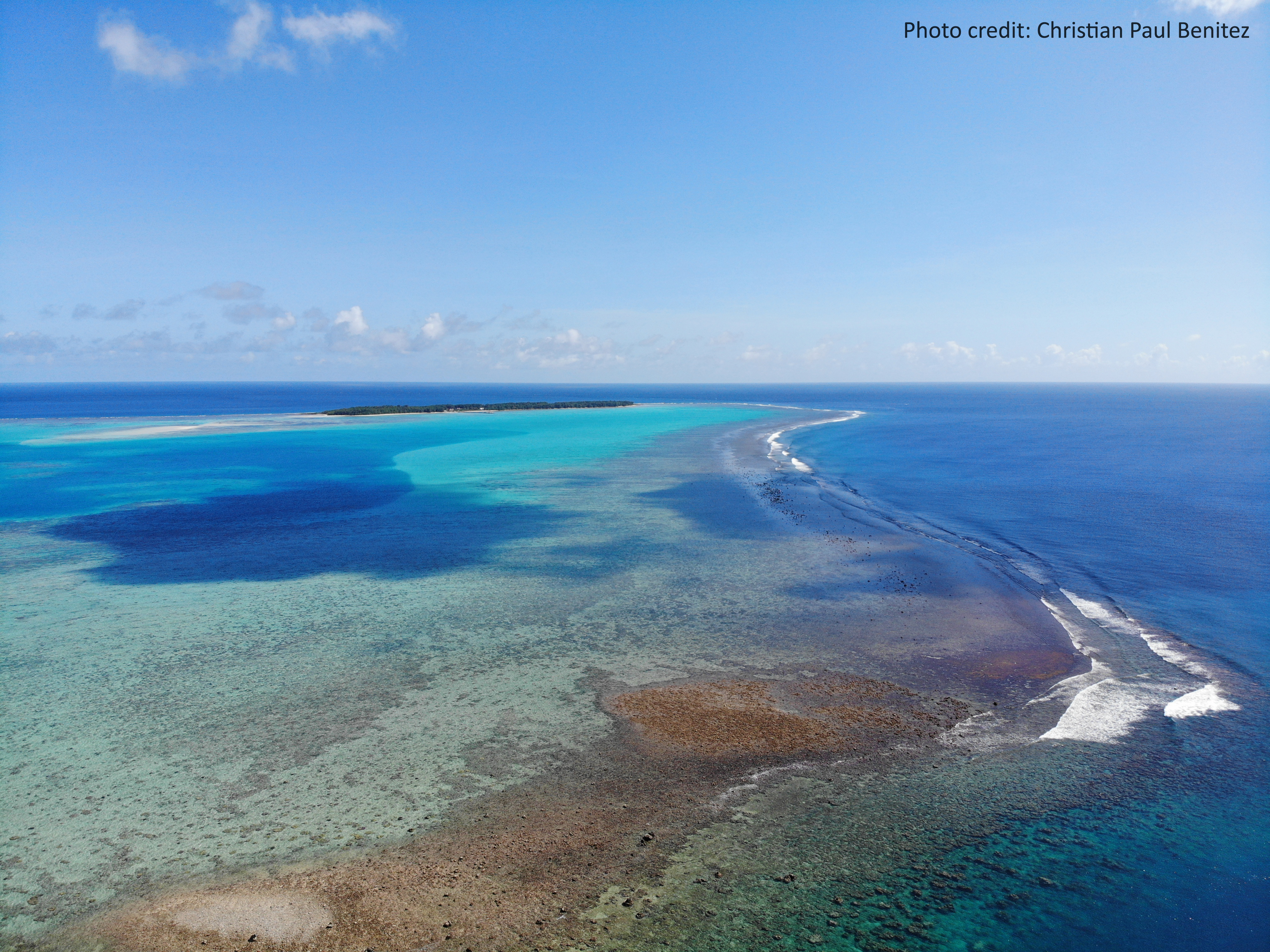 Cocos Island and lagoon from Merizo Village, Guam