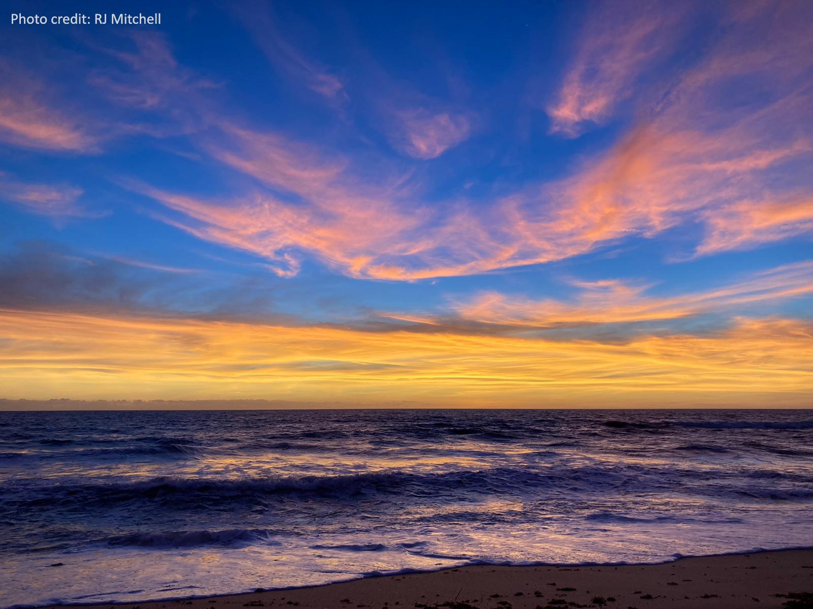 Sunrise at the Guana Tolomato Matanzas National Estuarine Research Reserve, Florida