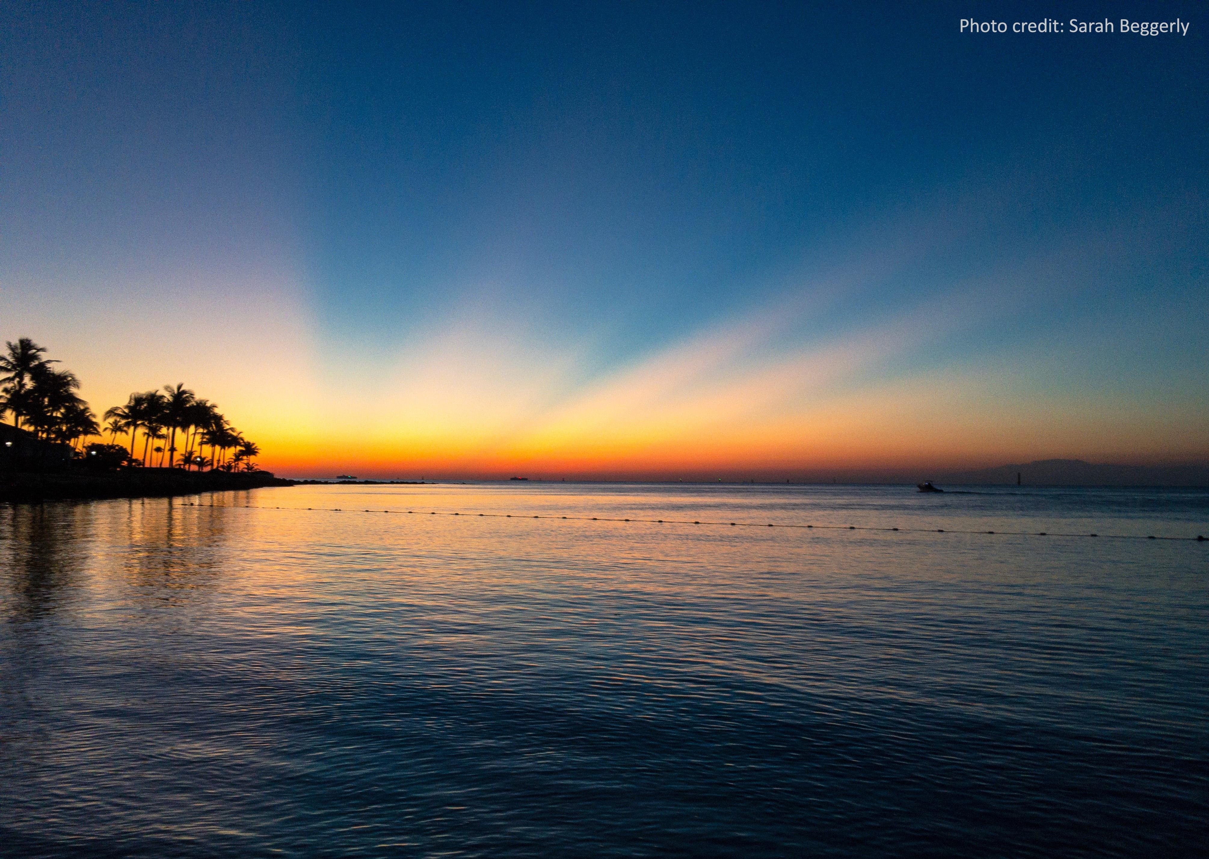 Sunrise at Fisher Island, Florida