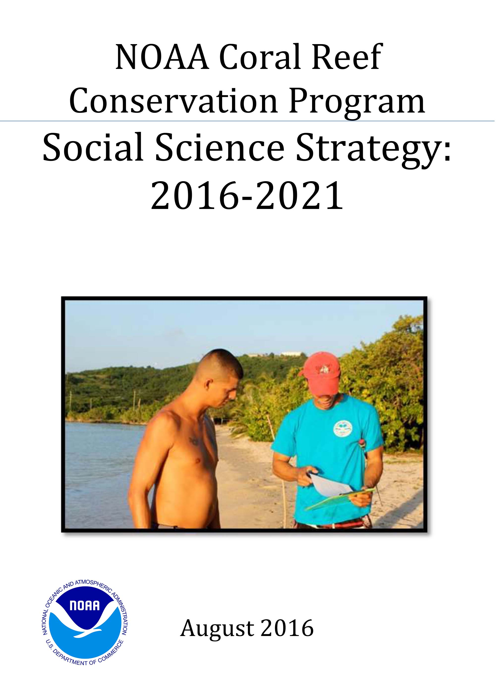 Cover- NOAA CRCP Social Science Strategy: 2016-2021
