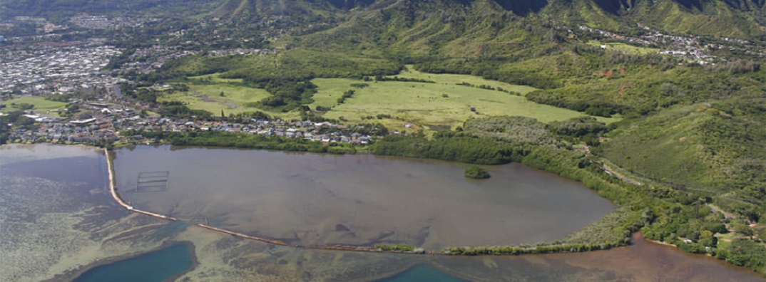 He'eia National Estuarine Research Reserve in Oahu, Hawaii.