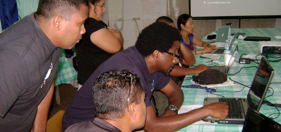 training international and domenstic coral reef conservation partners