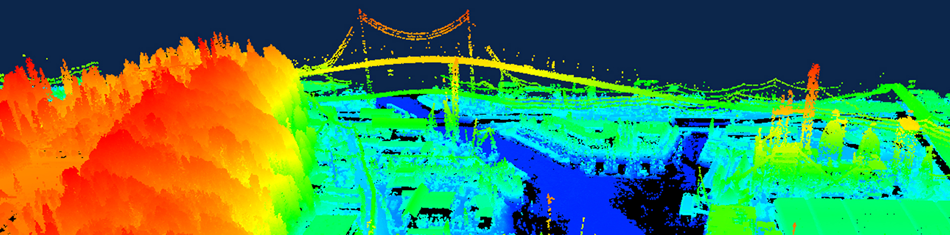 Fly-through of point cloud data collected in Seattle, Washington showing how lidar captures elevation information.