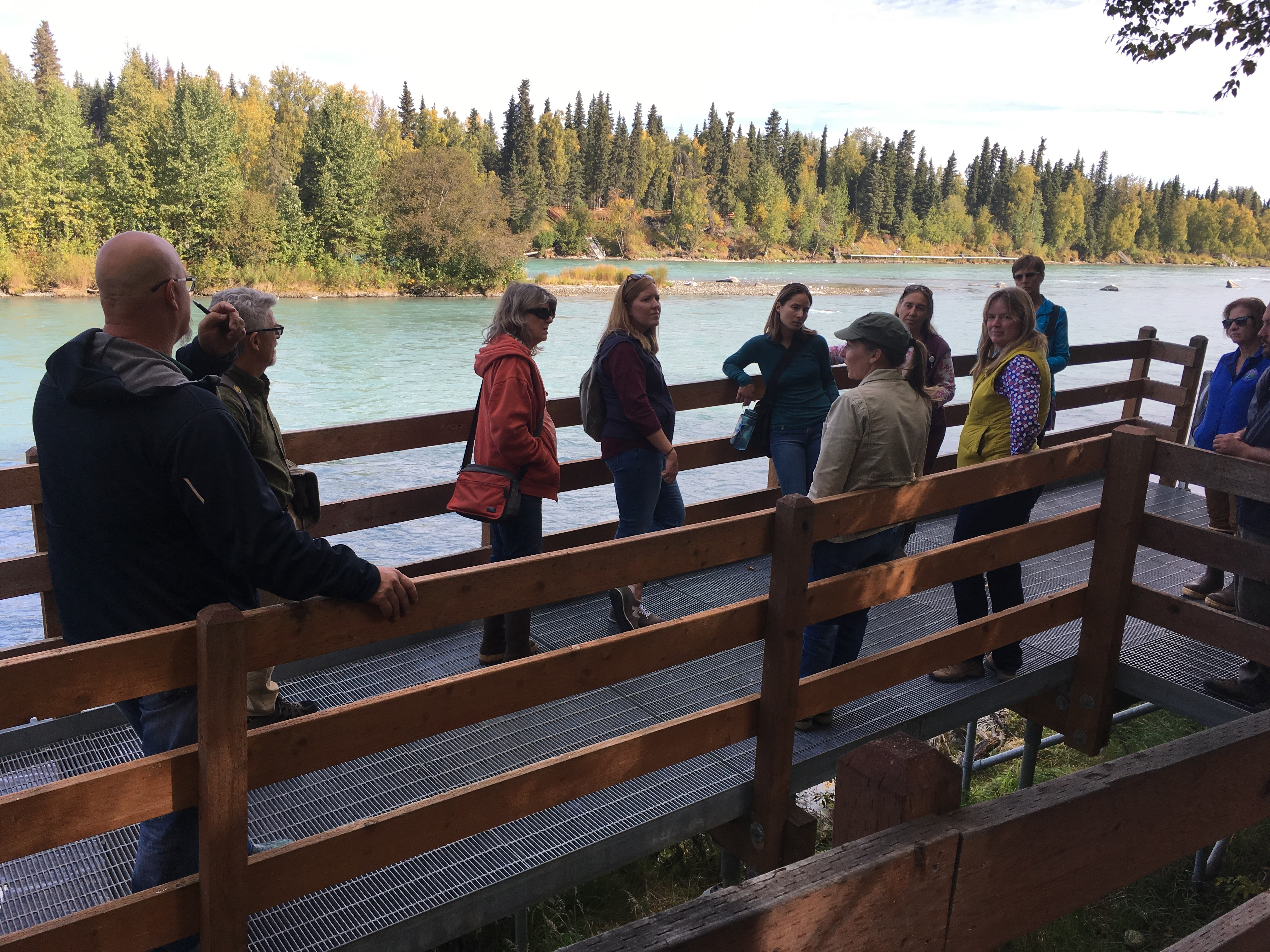 Green Infrastructure training participants visit Alaska site to discuss Solutions for Coastal Hazards