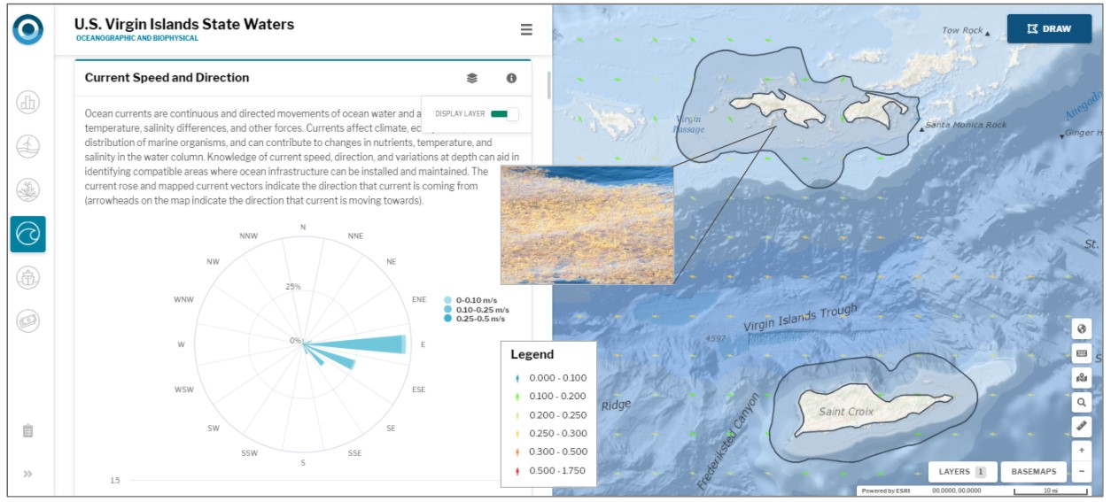OceanReports data included marine users, oceanography, and natural resources