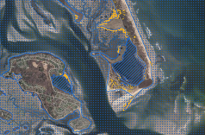 Sea Level Rise Viewer and National Flood Hazard Layer used to display spatial information pertaining to the Massachusetts coastal zone