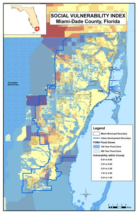 Miami-Dade County uses Sea Level Rise Inundation data and Coastal Inundation Mapping to build a cohesive plan for adapting to climate change