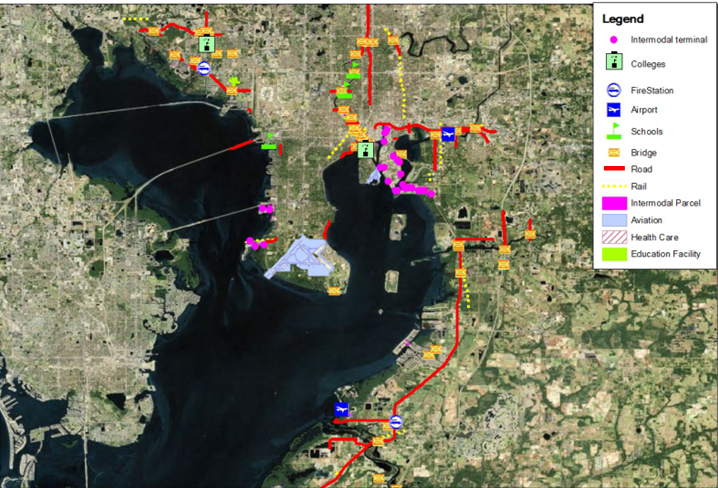 The Tampa Bay uses Sea Level Rise Viewer to see the estimated inundation vulnerability and coastal flooding impacts