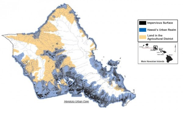 C-CAP High-Resolution Land Cover data were an integral part of mapping Oahu, Hawaii's urban realm, impervious surfaces, and the agricultural district