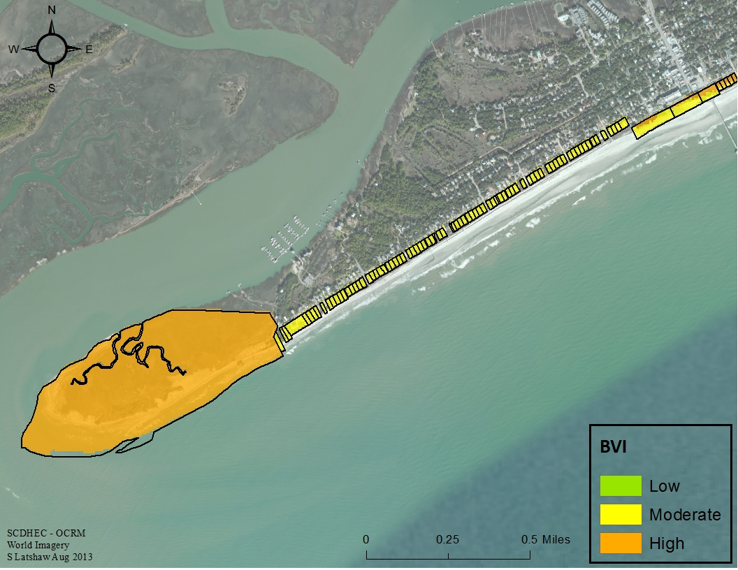 South Carolina uses Coastal Topobathy and Topographic Lidar to develop a Beachfront Vulnerability Index to assess losses from storm surge and erosion