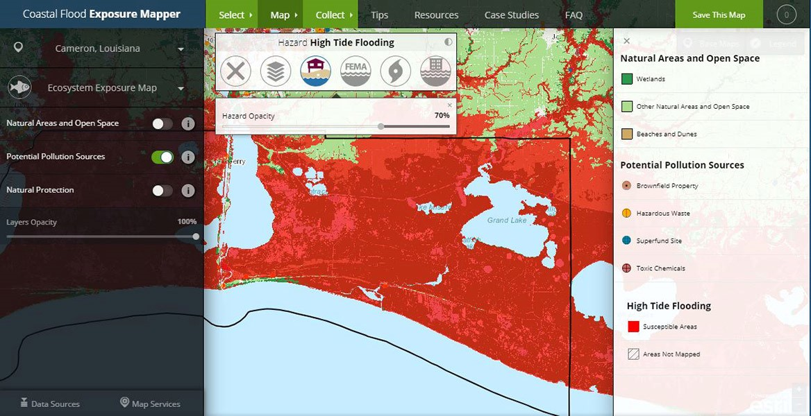 Screenshot of Coastal Flood Exposure Maps Tutorial Video