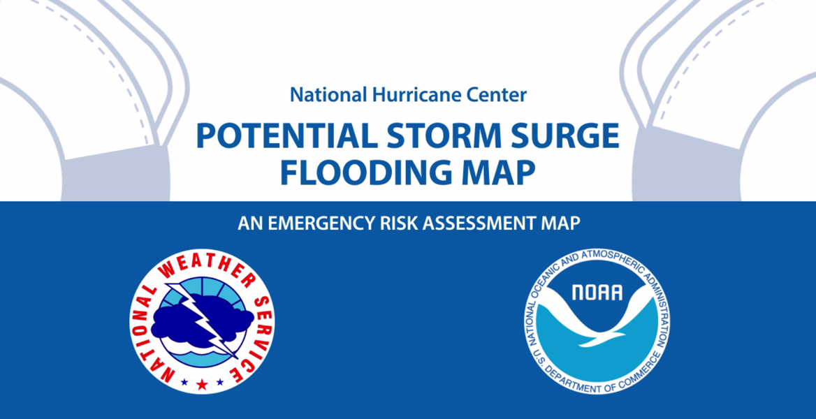 Screenshot of Understanding the National Hurricane Center's Storm Surge Potential Flooding Map Video