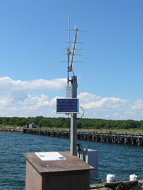 Photo of a weather station on a sunny day