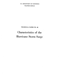[graphic of cover of report-Characteristics of the Hurricane Storm Surge]