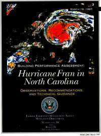 [graphic of cover of report-Building Performance Assessment: Hurricane Fran in North Carolina - Observations, Recommendations and Technical Guidance]