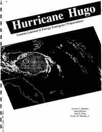 cover of the Hurricane Hugo Lessons Learned in Energy Emergency Preparedness report