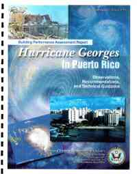 [graphic of cover of report-Building Performance Assessment Report Hurricane Georges in Puerto Rico Observations, Recommendations, and Technical Guidance]