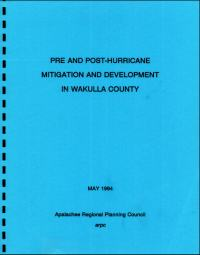 [graphic of cover of report-Pre and Post Hurricane Mitigation and Development in Wakulla County]