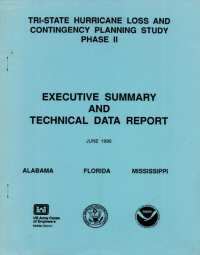 [graphic of cover of report-Tri State Hurricane Loss and Contingency Planning Study Phase II Executive Summary and Technical Data Report]
