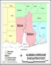 [graphic of cover of report-Alabama Hurricane Evacuation Study]