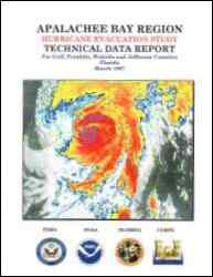 [graphic of cover of report-Apalachee Bay Region: Hurricane Evacuation Study-Technical Data Report for Gulf, Franklin, Wakulla and Jefferson Counties, Florida]