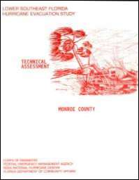 [graphic of cover of report-Lower Southeast Florida Hurricane Evacuation Study: Technical Assessment for Monroe County]