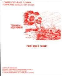 [graphic of cover of report-Lower Southeast Florida Hurricane Evacuation Study: Technical Assessment for Palm Beach County]