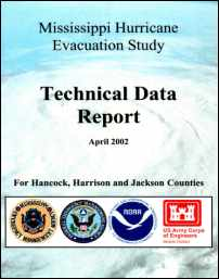 [graphic of cover of report-Mississippi Hurricane Evacuation Study: Technical Data Report for Hancock, Harrison, and Jackson Counties]
