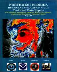 [graphic of cover of report-Northwest Florida Hurricane Evacuation Study: Technical Data Report for Escambia, Santa Rosa, Okaloosa, Walton, Bay, Holmes, Jackson, and Washington Counties]