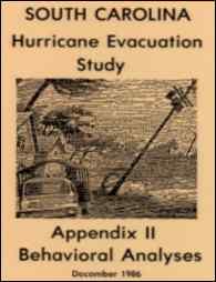 [graphic of cover of report-South Carolina Hurricane Evacuation Study Appendix II Behavioral Analyses]