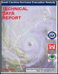 [graphic of cover of report-South Carolina Hurricane Evacuation Restudy: Technical Data Report]