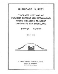 [graphic of cover of report-Tidewater Portions of Patuxent, Potomac, and Rappahannock Rivers, including adjacent Chesapeake Bay Shoreline]