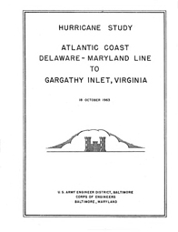 [graphic of cover of report-Atlantic Coast Delaware-Maryland Line to Gargathy Inlet, Virginia]