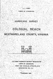 [graphic of cover of report-Colonial Beach, Westmoreland County, Virginia]