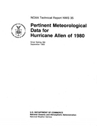 [graphic of cover of report-Pertinent Meteorological Data for Hurricane Allen of 1980]