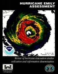 [graphic of cover of report-Hurricane Emily Assessment: Review of Hurricane Evacuation Studies Utilization and Information Dissemination]