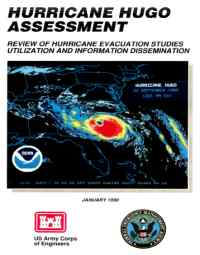 [graphic of cover of report-Hurricane Hugo Assessment: Review of Hurricane Evacuation Studies Utilization and Information Dissemination]