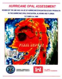 [graphic of cover of report-Hurricane Opal Assessment: Review of the Use and Value of Hurricane Evacuation Study Products in the Hurricane Opal Evacuation of Alabama and Florida]