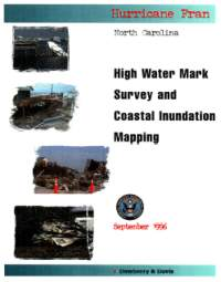 [graphic of cover of report-High Water Mark Survey and Coastal Inundation Mapping-Hurricane Fran, North Carolina]