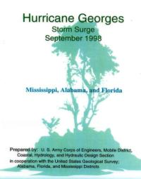 [graphic of cover of report — Hurricane Georges: Storm Surge-Mississippi, Alabama, Florida]