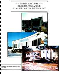 [graphic of cover of report-Hurricane Opal: Florida Panhandle Wind and Water Line Survey]