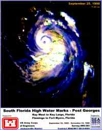 [graphic of cover of report-South Florida High Water Marks-Post Georges Key West to Key Largo Florida; Flamingo to Fort Myers Florida]