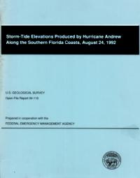 [graphic of cover of report-Storm Tide Elevations Produced by Hurricane Andrew Along the Southern Florida Coasts, August 24, 1992]
