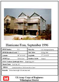 [graphic of cover of report-Hurricane Fran High Water Marks Collection]