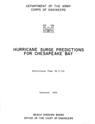 [graphic of cover of report-Hurricane Surge Predictions for Chesapeake Bay]